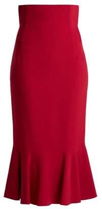 Dolce & Gabbana Fluted Cady Skirt - Womens - Dark Pink