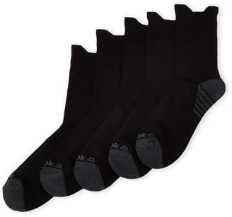 Reebok 5-Pack Performance Training Mid-Crew Socks