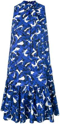 MSGM leaf print swing dress