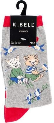 K. Bell Novelty Crew Socks - Cat Friends
