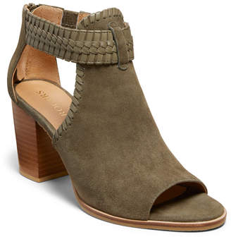 Jack Rogers Tinsley Suede Open Toe Booties