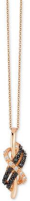 Le Vian Exotics Diamond (1/8 ct. t.w.) Pendant Necklace in 14k Rose Gold $1,401 thestylecure.com