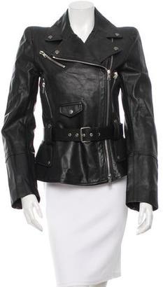 Alexander McQueen Leather Moto Jacket $1,695 thestylecure.com