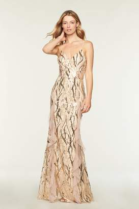Milly Sequined Vines Savannah Gown