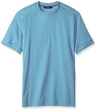 Bugatchi Men's Lightweight Cotton Short Sleeve Crew Neck Shirt