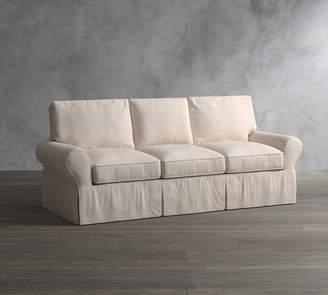 Pottery Barn Sale PB Basic Slipcovered Sleeper Sofa with Memory Foam Mattress