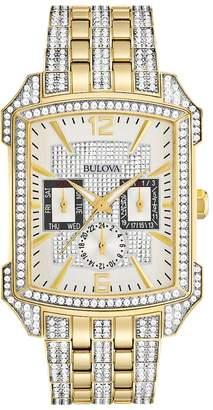 Bulova Men's Crystal Gold Tone Stainless Steel Watch - 98C109