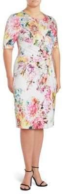 Basler Floral-Print Sheath Dress