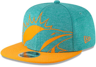 New Era Miami Dolphins Oversized Laser Cut 9FIFTY Snapback Cap