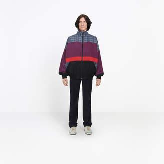Balenciaga Multi material cotton poplin sweater