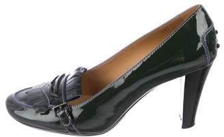 Tod's Patent Leather Kiltie Pumps