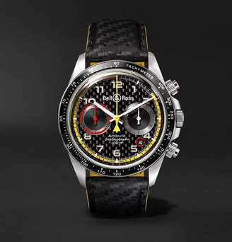 Bell & Ross BR V2-94 R.S.18 Renault Limited Edition Chronograph 41mm Stainless Steel and Leather Watch - Black