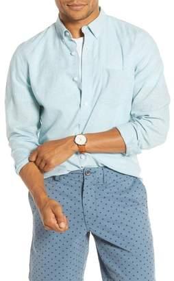 1901 Slim Fit Slubbed Linen Blend Button-Down Shirt