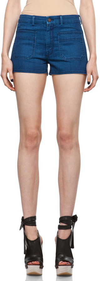 MOTHER Patch Pocket Short in Bright Eyes