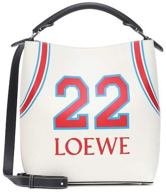 Loewe T printed leather bucket bag