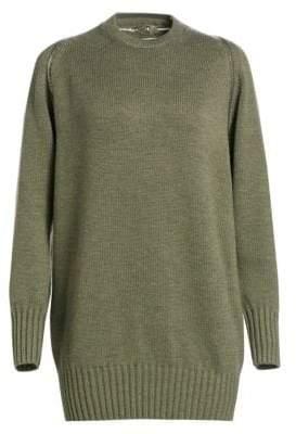 Wool Zip Shoulder Sweater
