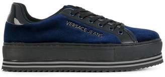 Versace platform lace up sneakers