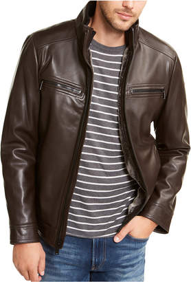 Calvin Klein Men Sherpa Lined Faux Leather Jacket
