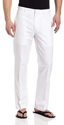 Cubavera Men's Linen-Cotton Herringbone-Textured Pant