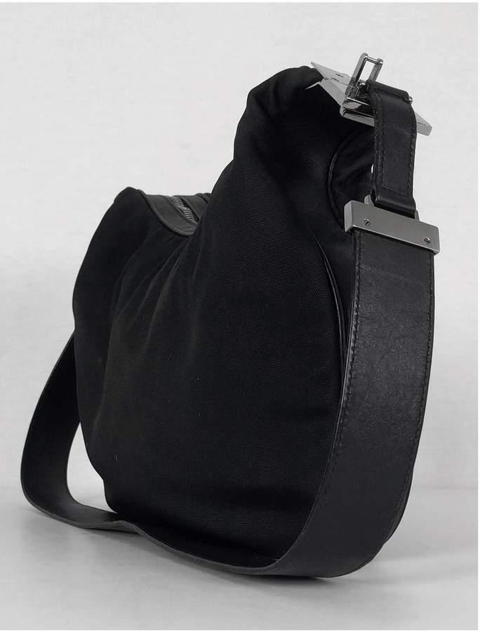 Gucci- Black Nylon Purse w/ G Clasp