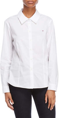 Tommy Hilfiger Embroidered Logo Fitted Shirt