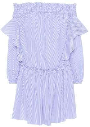 Alexander McQueen Off-the-shoulder cotton dress