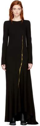Haider Ackermann Black Embroidered Round Shoulder Dress