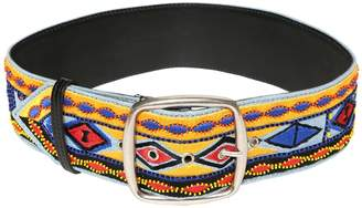 Etro Embroidered Leather Belt