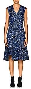Derek Lam Women's Abstract Cotton-Blend Jacquard A-Line Dress - Peacock