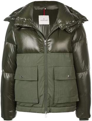 Moncler panelled padded coat