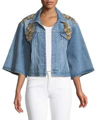 Kobi Halperin Amada Embellished Denim Jacket