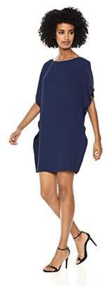 Anne Klein Women's Cascade Flutter Sleeve Dress