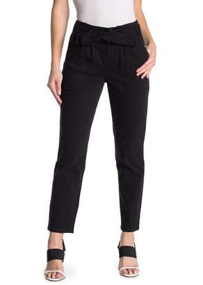 Black Orchid Waist Belt Paperbag Pants