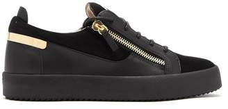 Giuseppe Zanotti Frankie leather and suede low-top trainers