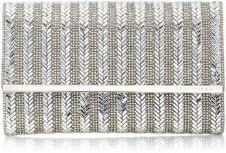 Judith Leiber Couture Herringbone Manhattan Clutch