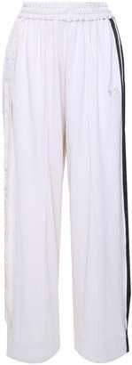 Y-3 Y 3 Wide-leg Side-stripe Cotton-blend Trousers