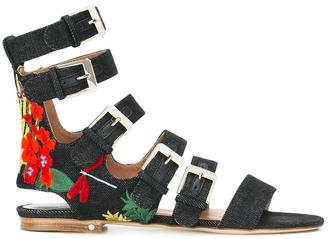 Laurence Dacade 'Nina' denim sandals $845.07 thestylecure.com