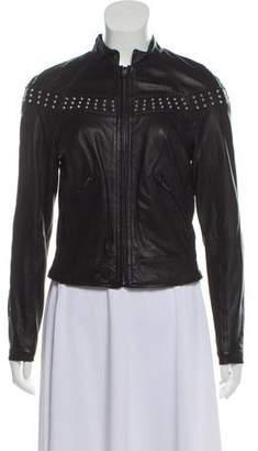 Gryphon Studded Leather Jacket