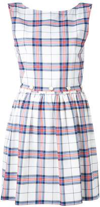 MAISON KITSUNÉ checked flared dress