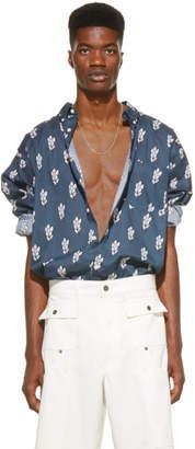 Jacquemus SSENSE Exclusive Navy La Chemise Simon Shirt