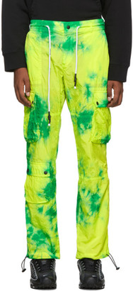Palm Angels Green Tie-Dye Cargo Pants