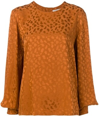Givenchy Pre-Owned 1980's long sleeve pattern top