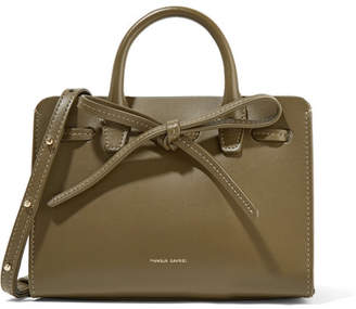 Mansur Gavriel Sun Mini Mini Leather Tote - Army green