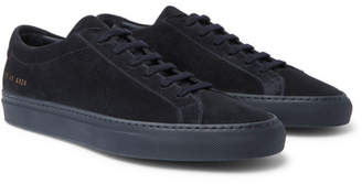 Common Projects Original Achilles Suede Sneakers - Men - Navy