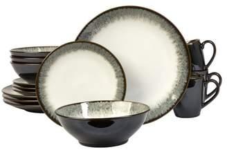 Sango Novelle Moss 16-Piece Dinnerware Set, Including 4 dinner plates, 4 salad plates, 4 soup bowls, and 4 cereal bowls