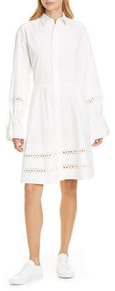 Polo Ralph Lauren Jasper Eyelet Detail Long Sleeve Shirtdress