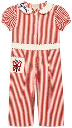 b146584fe6d Gucci Children s embroidered cotton jumpsuit