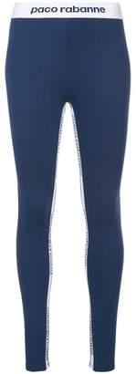 Paco Rabanne logo compression tights