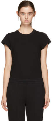 Alexander Wang Black Cap Sleeve Fitted Bodysuit