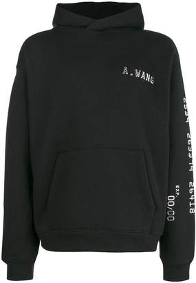 Alexander Wang logo hooded sweatshirt